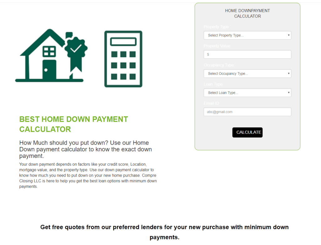 Down Payment Calculator >> No 1 Mortgage Savings Calculator Compare Closing